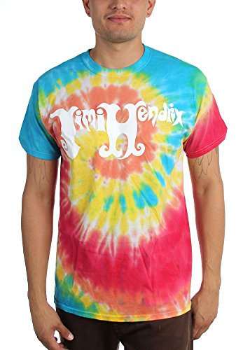 Jimi Hendrix Tie Dye T-shirt (Jimi Hendrix - Mens Jimi Hendrix Tie-Dye Logo T-Shirt, Size: Large, Color: Tie Dye)
