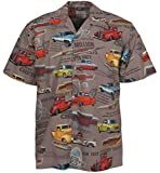 David Carey Chevy Classic Pickup Trucks Camp Hawaiian Shirt (2X) Gray