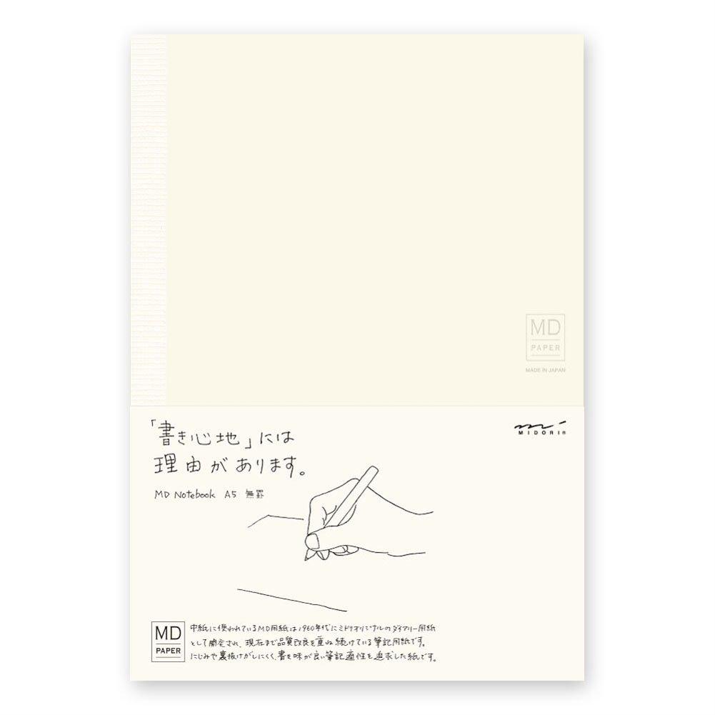 Cuaderno Hojas Lisas Midori Md Notebook A5