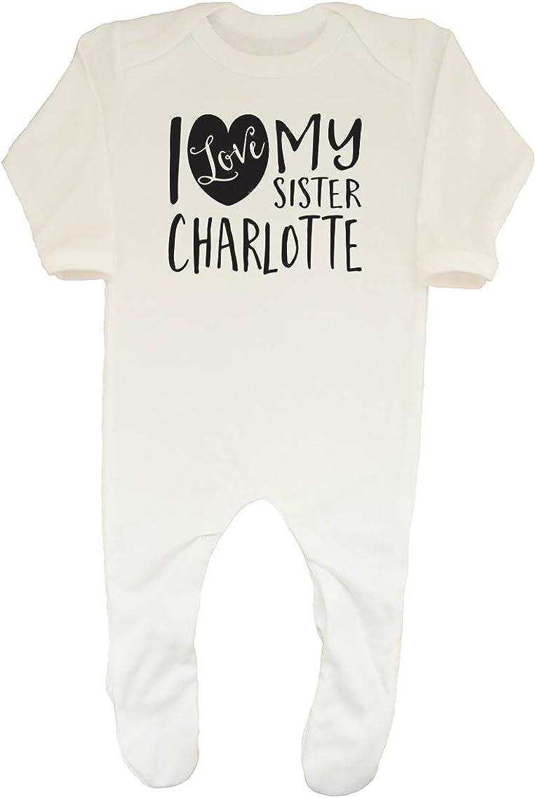 Shopagift Baby Personalised I Love My Sister Sleepsuit Romper
