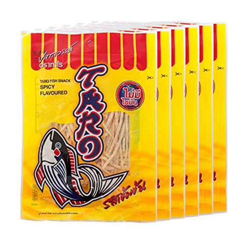 Thai Taro Fish Snack Spicy Flavor 7.5g (Pack of 12) (Thai Fish)