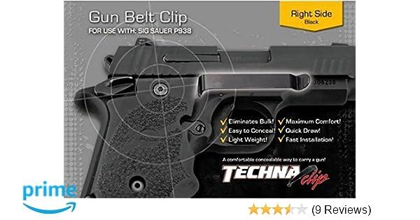 TECHNA CLIP FOR SIG SAUER P938 BLK RH