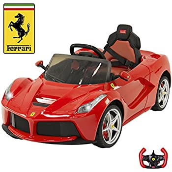 best choice products 12v electric kids ride on laferrari rc remote control car red