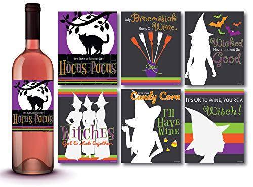Halloween Apothecary Labels Printable (6 Bewitching Halloween Wine Bottle Labels, Halloween Bottle Stickers, Party Decorations, Haunted House Prop, Halloween Party)