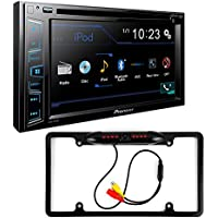 Pioneer AVH-290BT Double DIN Bluetooth In-Dash DVD/CD/AM/FM Car Stereo w/ 6.2 WVGA Display + Cache Night Vision Car License Plate Rearview Camera - Black CAM810B