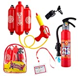 5 Piece Premium Firefighter Water Gun Toy Set. For Outdoors, Pools, Summer.Beach,Bath and Halloween.Includes BAG