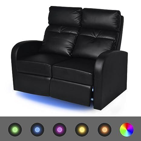 Fijo Night LED Relax - Sillón reclinable Sofá Sofá de 2 ...