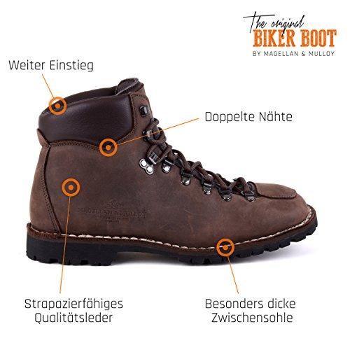 Biker Boot Adventure Denver Brown, Stivali Da Donna Marrone Scuro