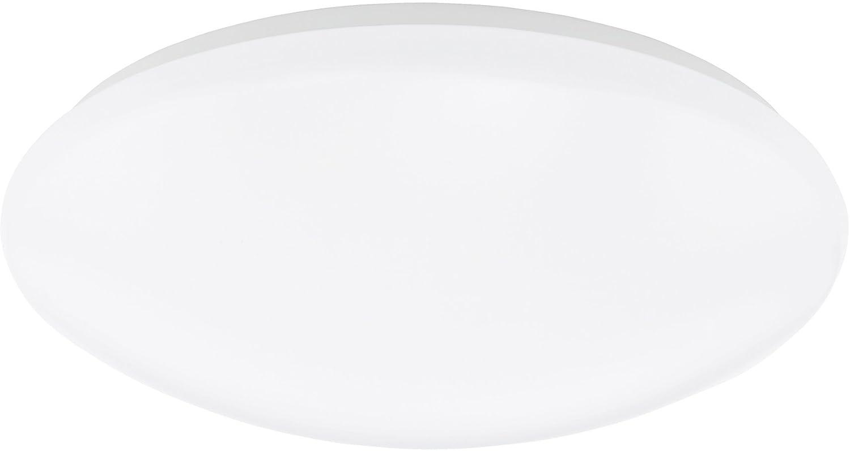 Eglo Wand Deckenleuchte LED Modell Giron   in weißem Stahl und weißem Kunststoff   1 x 18 W LED 1330lm, warmweiß inklusiv Leuchtmittel Schutzklasse 2   ø 38.5 cm Ausladung 12 cm 91672