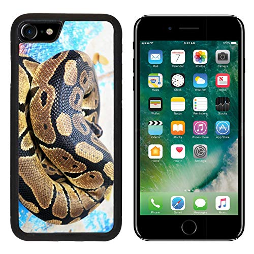 Luxlady Apple iPhone 8 Case Aluminum Backplate Bumper Snap iPhone8 Cases Image ID: 24913512 Burmese Python ()