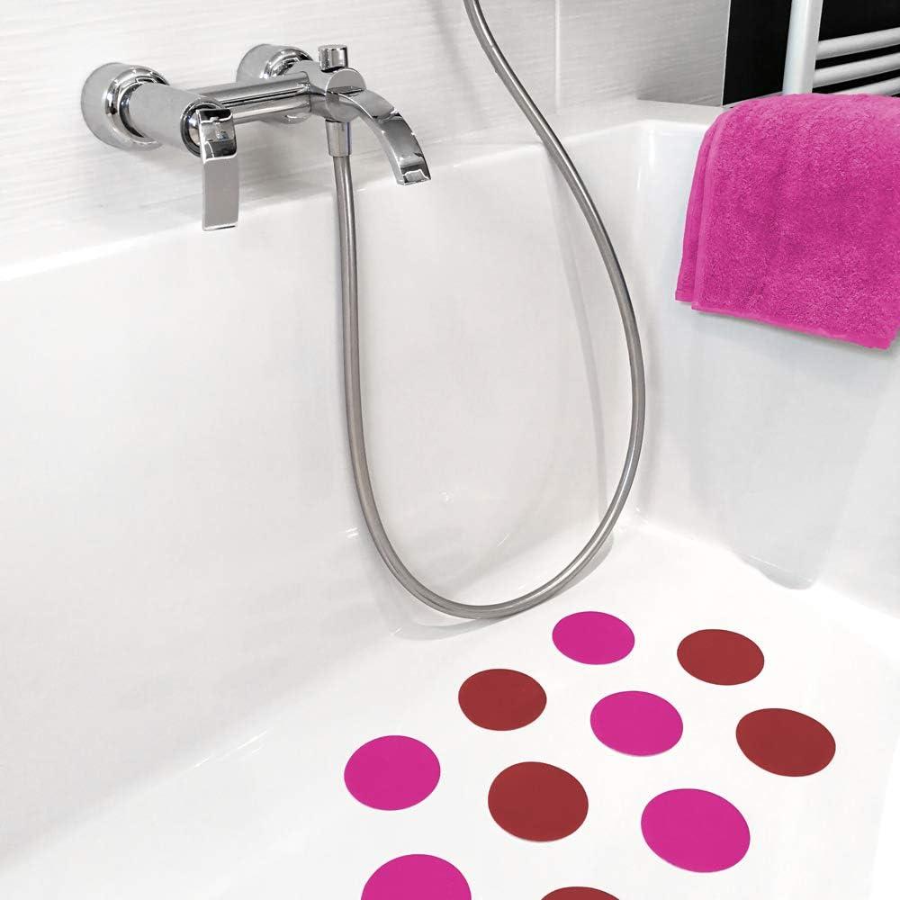 /∅ 9 cm Rutschklasse C pink AnTina TAPES 10 Anti-Rutsch-Aufkleber Pads f/ür Dusche /& Badewanne selbstklebend