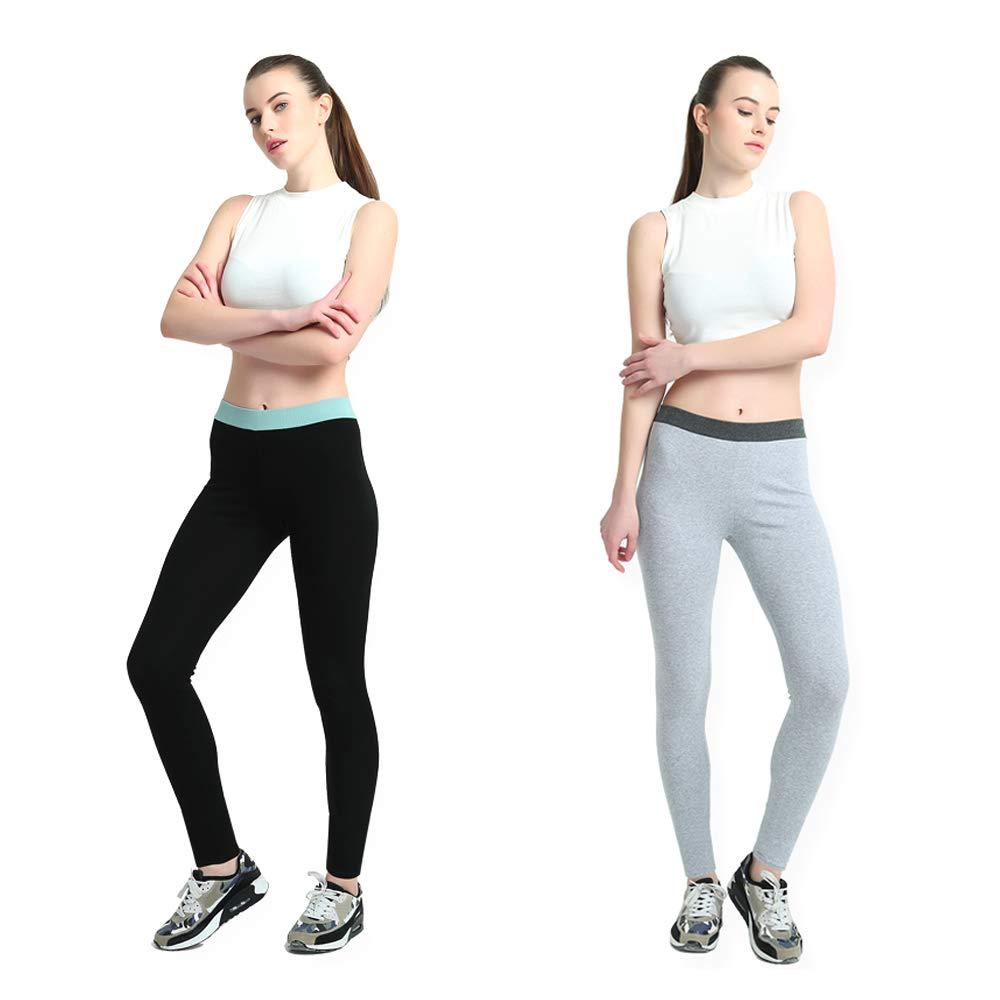 LiPa Tova 2-Pack Womens Leggings Autumn Cotton Stretchy Warm Pants (SET2-L)