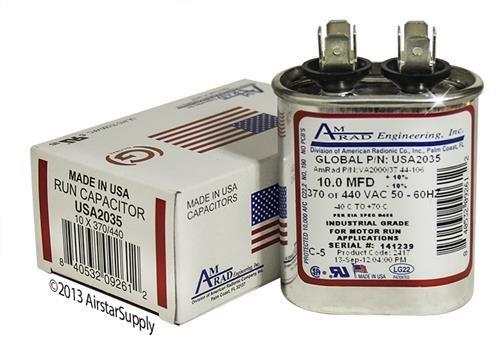 10 MFD 340/440 OVAL CAP.
