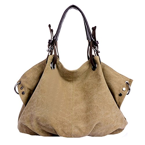 Aisi Damen Handtasche / Umängetasche / Schultertasche / Handgelenkstasche / Henkeltasche / Canvas-Tasche / Segeltuchtasche mit dem abnehmbaren verstellbaren Schulterriemen