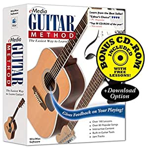 Emedia guitar method v6 190 beginning guitar lessons mac/pc comp.