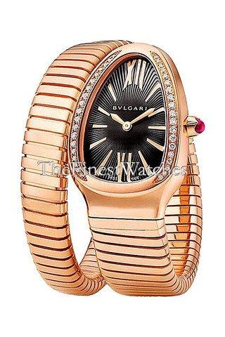 New-Ladies-Bvlgari-Serpenti-Tubogas-35mm-18K-Rose-Gold-Diamonds-Watch