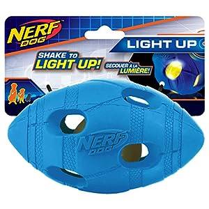Nerf Dog LED Bash Football, Medium, Blue Click on image for further info.