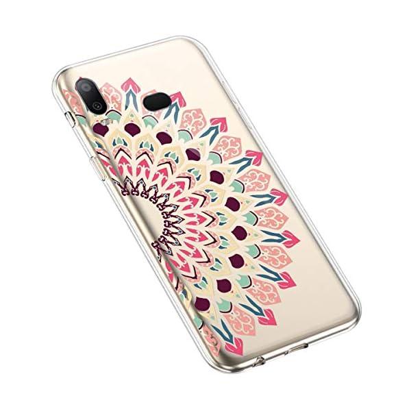 Robinsoni Cover per Samsung Galaxy A6S Cover Silicone Galaxy A6S Case Trasparente Custodia in Gomma Morbido TPU… 3 spesavip