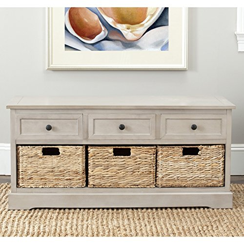 Safavieh American Homes Collection Damien Vintage Grey 3 Drawer Storage Unit ()