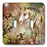 3dRose LLC lsp_11664_2 A Magical Unicorn Peers out From a Floral Enchanted Realm in this Artwork, Double Toggle Switch
