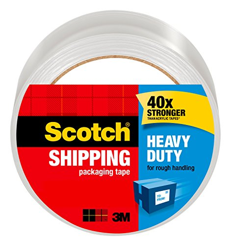 Scotch Heavy Duty Shipping Packaging Tape, 1.88 x 65.6 Yards, Clear (3850-60)