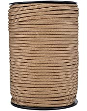 Demeras 550 touw voor parachute, reflecterend, 9 kerndraad 100 m voor dames en heren (kaki)