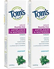 Tom's of Maine Fluoride-Free Toddler Training Toothpaste, Peppermint, 5.5 oz. 2-Pack