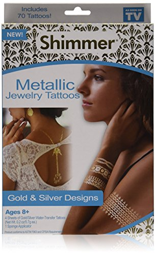 As Seen On TV Shimmer Metallic Jewelry Tattoos ()
