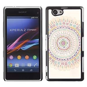For Sony Xperia Z1 Compact / Z1 Mini / D5503 Case , Mandala Art Colorful Spiritual - Diseño Patrón Teléfono Caso Cubierta Case Bumper Duro Protección Case Cover Funda