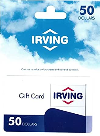 irving gift card balance amazon com irving oil 50 gift card gift cards 6016