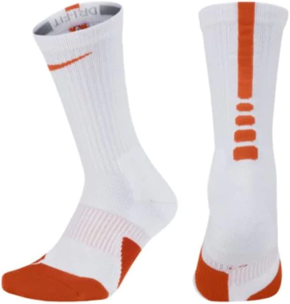 Oposición Olla de crack posterior  Amazon.com : Nike Elite Crew 1.5 Team Basketball Socks Medium (Men Size  6-8) White, Orange SX7035-105 : Clothing