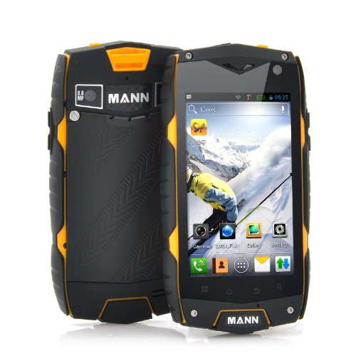 "Rugged Android Phone ""Mann A18"" – 4 Inch Screen, Snapdragon Dual Core Cpu, Ip68 Waterproof, Shockproof, Dustproof, Best Gadgets"