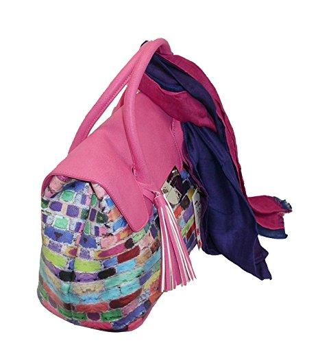 L'Atelier du sac - Bolso de asas para mujer Fucsia fucsia