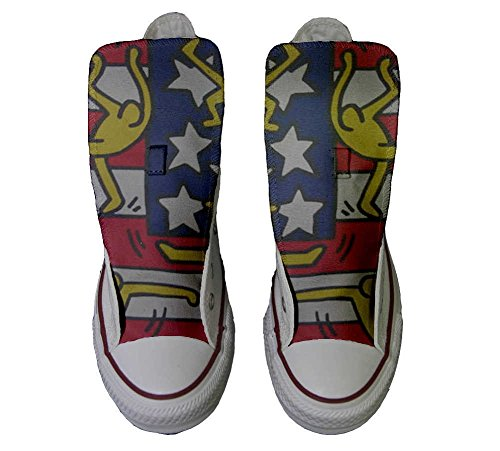 All Handwerk Flagge Hi Converse Customized Star Schuhe Tänze personalisierte Schuhe Verwenden xFwnqYUdw1