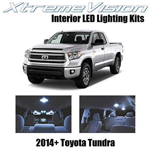 XtremeVision Toyota Tundra 2014+ (14 Pieces) Cool White Premium Interior LED Kit Package + Installation Tool