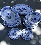 22-piece Melamine Dinnerware Set Blue Flower (Fda Compliance) Review