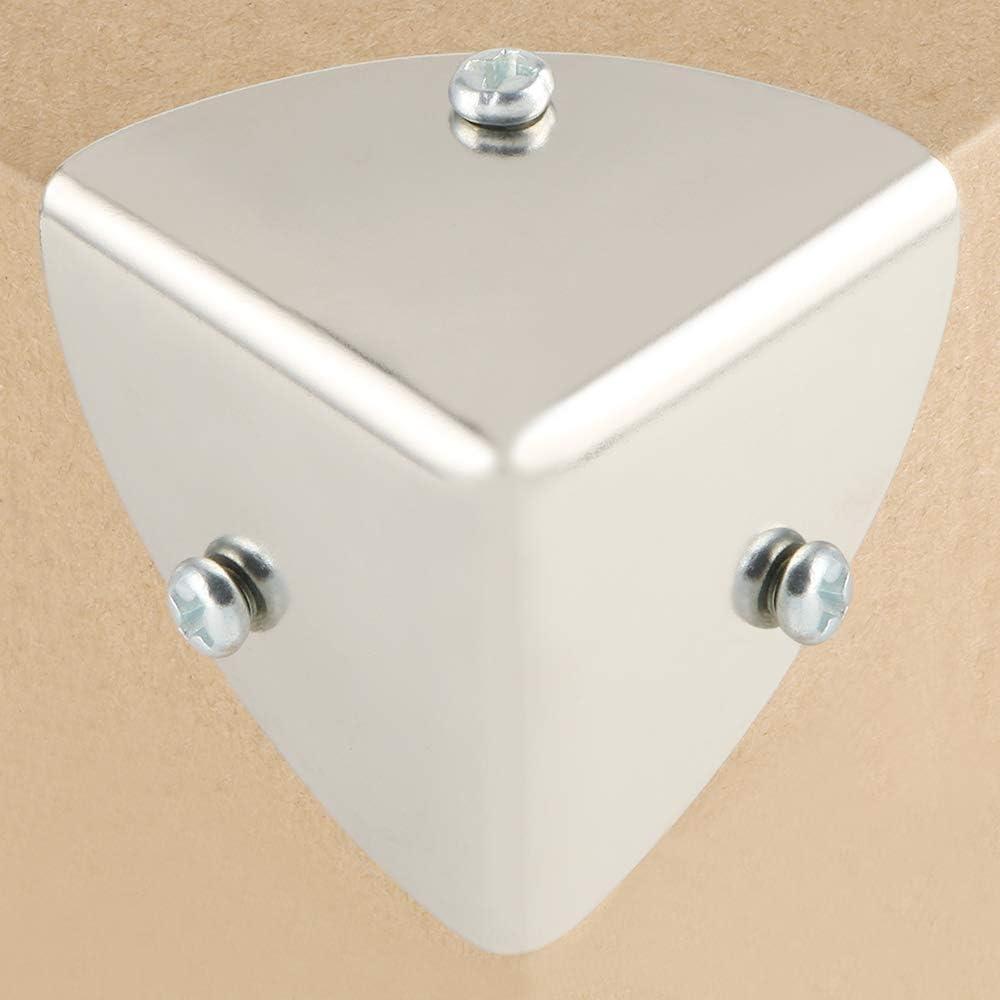 Sayayo EBJ039-4P Eckwinkelschutz f/ür Holzkofferraum Metall geb/ürstet Koffer Anti-Rost-Behandlung Flightcase Kiste