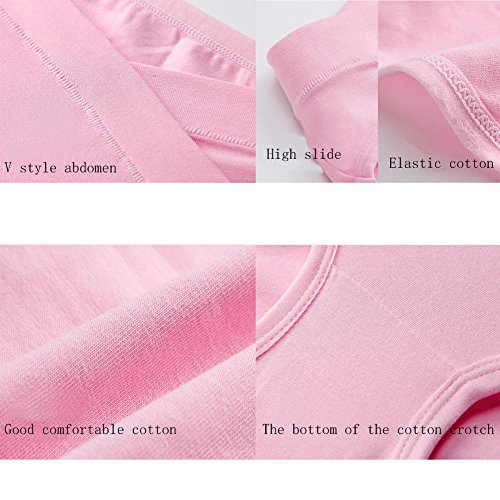 5er Pack Mutterschaft Niedrig-Taille Slip V-foermigen Bauch Unterstuetzung Baumwolle Unterhose Schwangersch Höschen Schwangere Unterwäsche