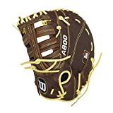 Wilson Showtime First Base Baseball Gloves, Brown/Blonde, 12'', Left Hand Throw