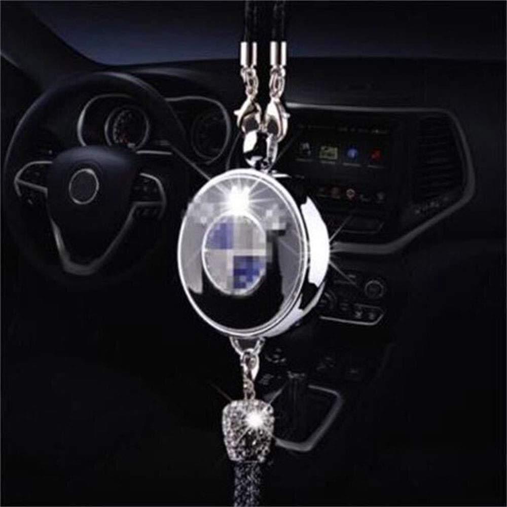 Fitracker - Ambientador para coche con diseño de logo y espejo retrovisor con caja de regalo