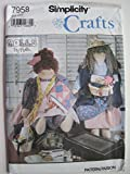 img - for Simplicity Crafts Pattern 7958 Quilter/Sewer and Peddler Doll and Clothes book / textbook / text book