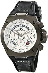 Adee Kaye Men's AK6368-GWT Phantom Analog Display Japanese Quartz Black Watch