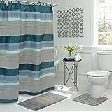 Bath Fusion Regent Stripe 15-Piece Bathroom Shower Set