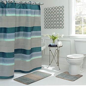 Bath Fusion Regent Stripe 15 Piece Bathroom Shower Set
