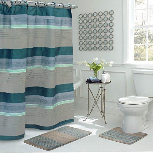 Bath Fusion Regent Stripe 15-Piece Bathroom Shower Set ()