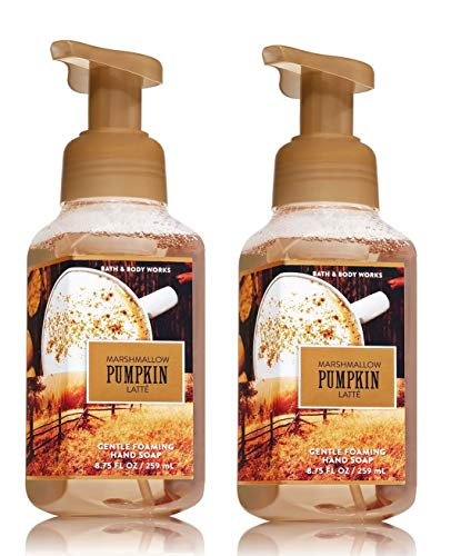 Bath & Body Works Marshmallow Pumpkin Latte Gentle Foaming Hand Soap (2 Pack) ()