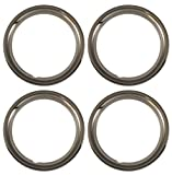Set of 4 Chrome plated Steel 15' Universal 1.75 inch Beauty Trim Rings 1515C