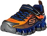 Skechers Kids Boys' Flashpod-Scoria Loafer,Orange/Blue,3 M US Little Kid