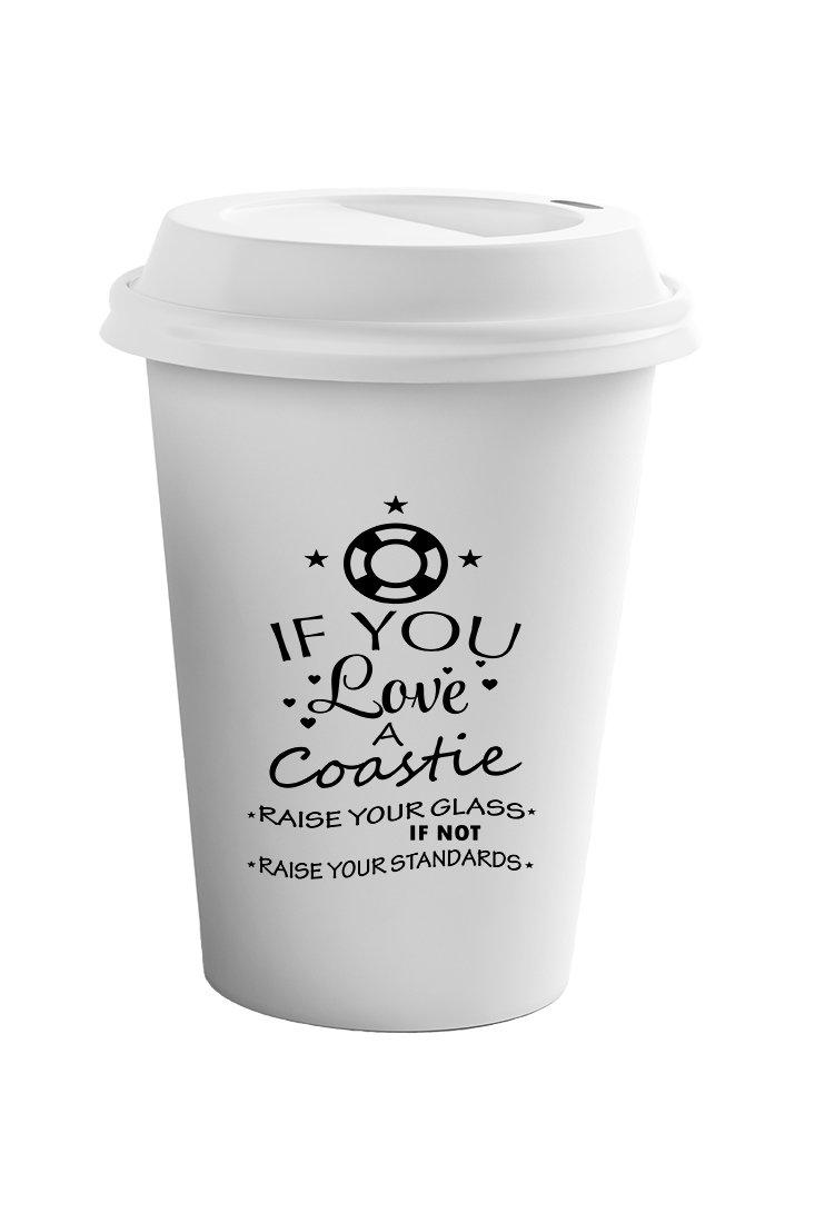 Style In Print ''If You Love A Coastie'' Funny Patriotic Coffee Ceramic Travel Tumbler Mug 11oz