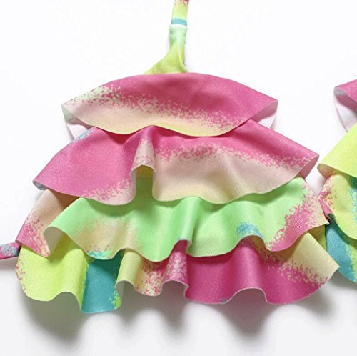 Traje de baño de moda Laminación de colores Split bikini Spa traje de baño de playa Multi - color